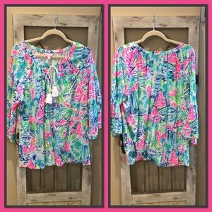 Lily Pulitzer 3/4 sleeve Top